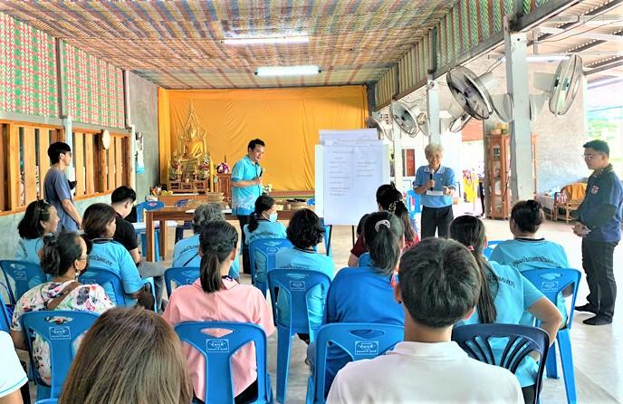 วิทยาลัยชุมชนตราดลงพื้นที่จัดโครงการประชุมเชิงปฏิบัติการเพื่อสำรวจทุนเดิมของชุมชน และความต้องการในการพัฒนาผลิตภัณฑ์แปรรูปของชุมชนบ้านคลองจาก