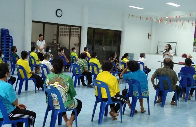 วิทยาลัยชุมชนตราด ลงพื้นที่จัดประชุมเชิงปฏิบัติการจัดทำเวทีสำรวจความต้องการชุมชน และจัดทำแผนแม่บทชุมชน กับผู้สูงอายุตำบลหนองโสน